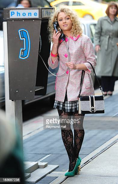 Actress AnnaSophia Robb is seen on the set of 'The Carrie Diaries'on October 8 2013 in New York City