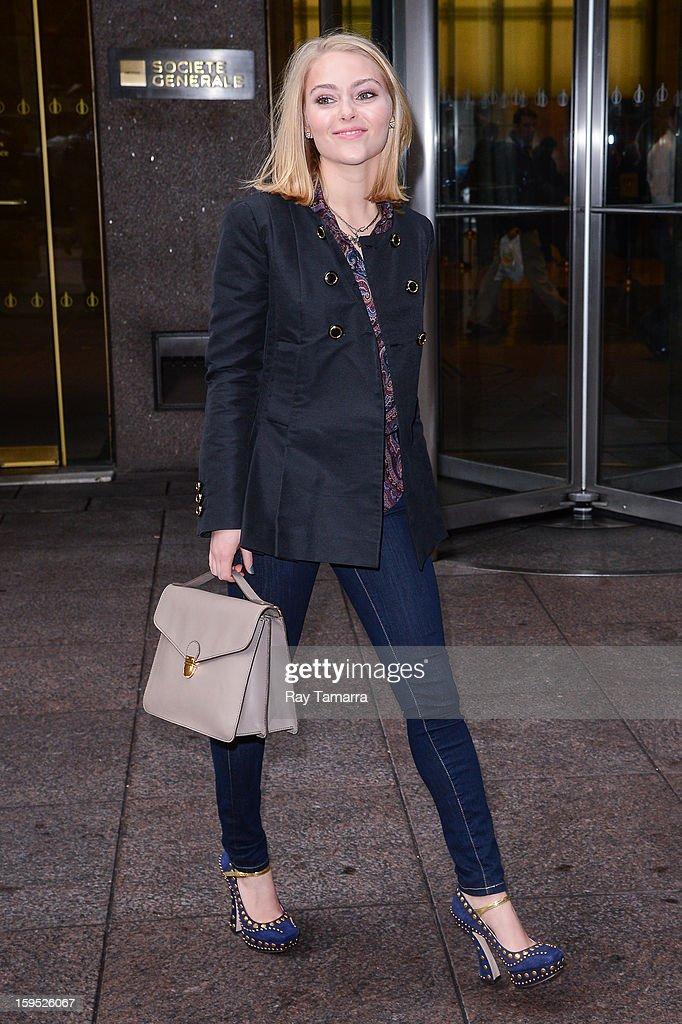 Actress AnnaSophia Robb leaves the Sirius XM Studios on January 14, 2013 in New York City.