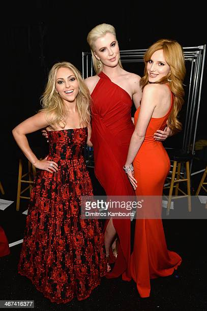 Actress AnnaSophia Robb Model Ireland Baldwin and Bella Thorne attend Go Red For Women The Heart Truth Red Dress Collection 2014 Show Made Possible...