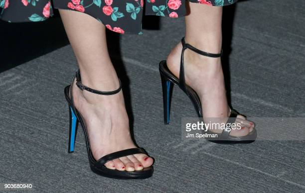 Actress AnnaSophia Robb shoe detail attends the premiere of IFC Films' 'Freak Show' hosted by The Cinema Society and Bluemercury at Landmark Sunshine...