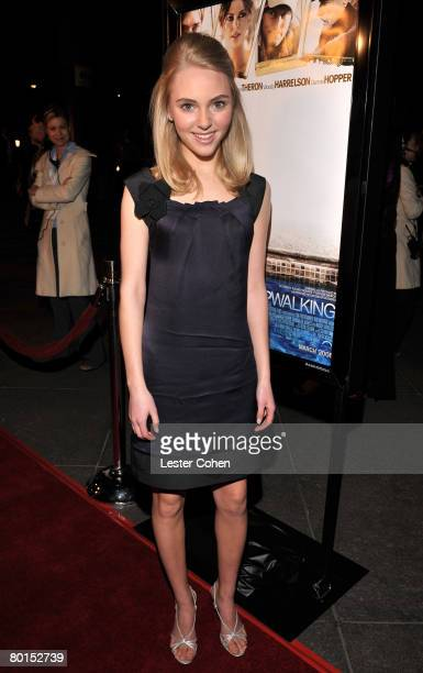Actress AnnaSpohia Robb arrives to Overture Films Presents 'Sleepwalking' Premiere at the Directors Guild of America on March 32008 in Los Angeles...