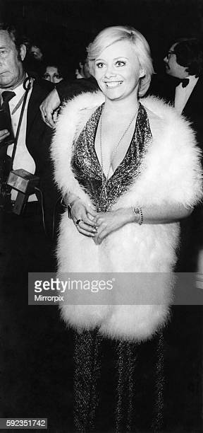 Actress Anne Aston arrives for the premiere October 1973 P017222