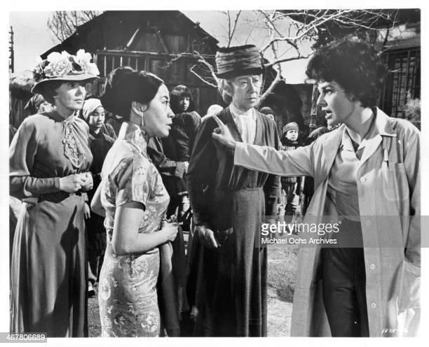 Actress Anne Bancroft on set of the movie 7 Women circa 196