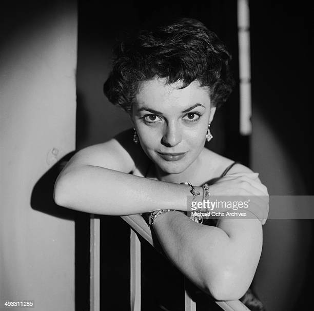 Actress Anne Bancroft poses at her home in Los Angeles, California.