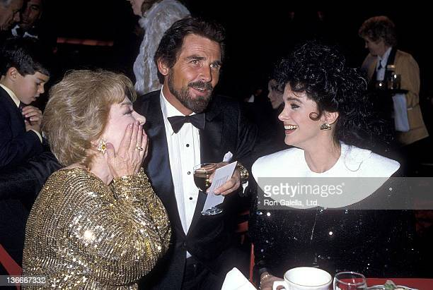Actress Anne Baxter actor James Brolin and actress Connie Sellecca attend the 16th Annual NAACP Image Awards on December 4 1983 at the Hollywood...