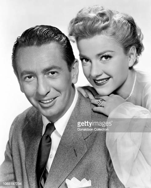 Actress Anne Baxter and Macdonald Carey in a scene from the movieMy Wife's Best Friend