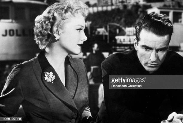Actress Anne Baxter and Montgomery Clift in a scene from the movie I Confess
