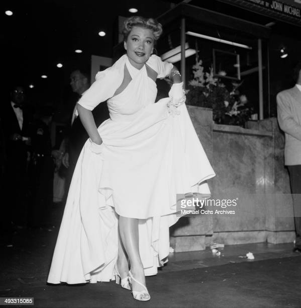 Actress Anne Baxter attends a party in Los Angeles California