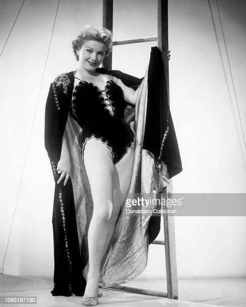 Actress Anne Baxter in a scene from the movie'Carnival Story'
