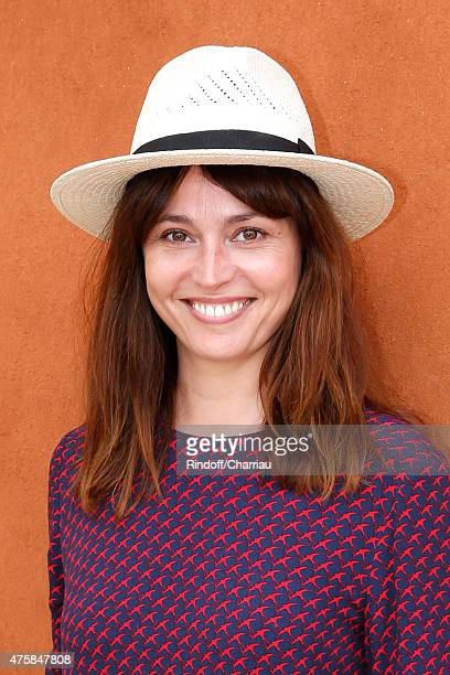 Actress Anne Charrier attends the 2015 Roland Garros French Tennis Open Day Twelve on June 4 2015 in Paris France