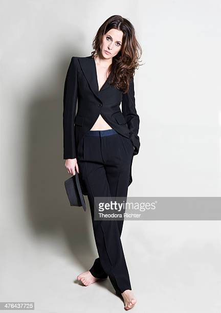 Actress Anne Charrier is photographed for Self Assignment on January 15 2014 in Paris France