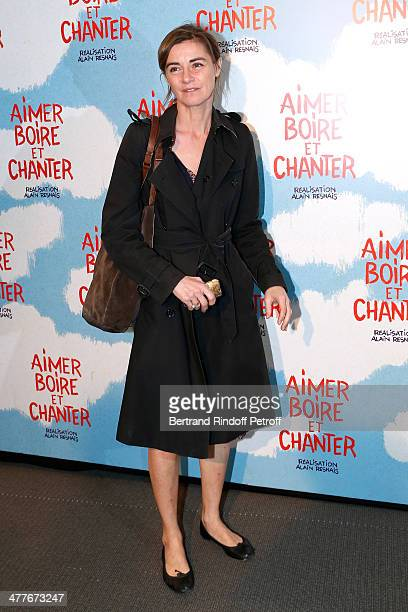 Actress Anne Consigny attends the 'Aimer Boire Et Chanter' Paris movie premiere Held at Cinema UGC Normandie on March 10 2014 in Paris France