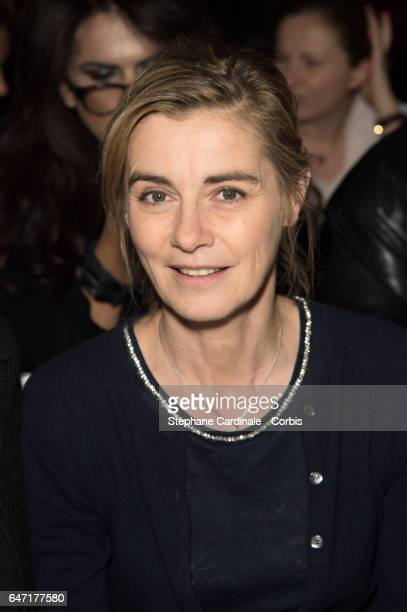 Actress Anne Consigny attends the Alexis Mabille show as part of the Paris Fashion Week Womenswear Fall/Winter 2017/2018 on March 2 2017 in Paris...