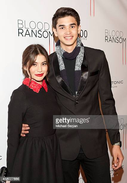 Actress Anne Curtis and basketball player Kobe Paras attend the Los Angeles Premiere Of 'Blood Ransom' on October 28 2014 in Los Angeles California