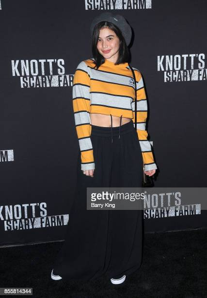 Actress Anne Curtis attends Knott's Scary Farm and Instagram Celebrity Night at Knott's Berry Farm on September 29 2017 in Buena Park California