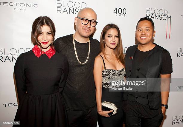 Actress Anne Curtis Ben Baller Joanna Del Rosario and publicist Rembrandt Flores attend the Los Angeles Premiere Of 'Blood Ransom' on October 28 2014...