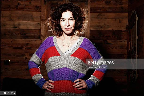 Actress Anne Depetrini is photographed for Self Assignment on January 20 2012 in Alpe d'Huez France