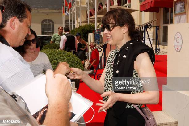 Actress Anne Dorval attends 1st day of 31st Cabourg Film Festival on June 14 2017 in Cabourg France