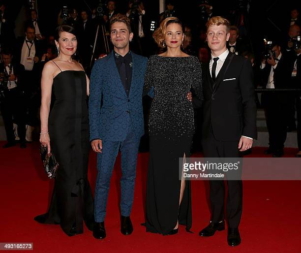 Actress Anne Dorval director Xavier Dolan and actors Suzanne Clement and Olivier Pilon attends the 'Mommy' Premiere at the 67th Annual Cannes Film...