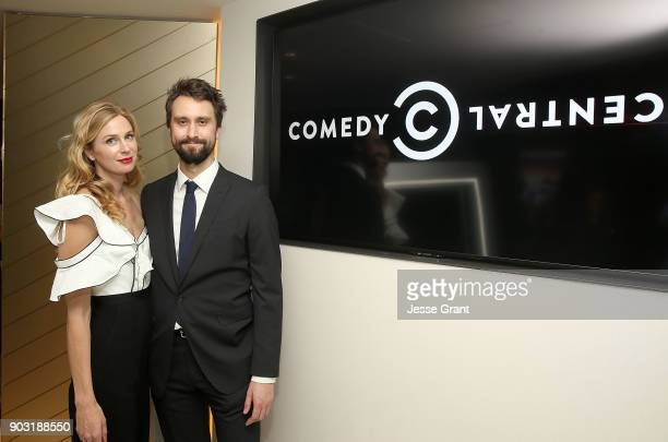 Actress Anne Dudek and executive producer Matt Ingebretson attend Comedy Central's Corporate Premiere Party at OUE Skyspace LA on January 9 2018 in...