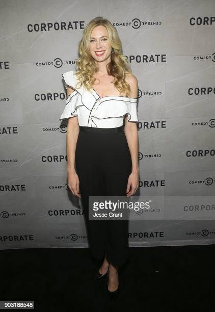 Actress Anne Dudek attends Comedy Central's 'Corporate' Premiere Party at OUE Skyspace LA on January 9 2018 in Los Angeles California