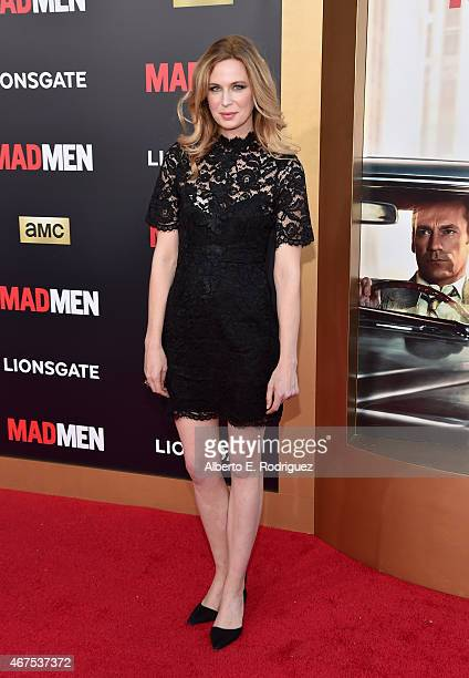 Actress Anne Dudek attends the AMC celebration of the final 7 episodes of Mad Men with the Black Red Ball at the Dorothy Chandler Pavilion on March...