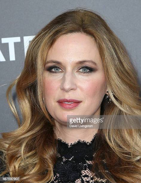 Actress Anne Dudek attends the AMC celebration of the final 7 episodes of 'Mad Men' with The Black Red Ball at the Dorothy Chandler Pavilion on March...