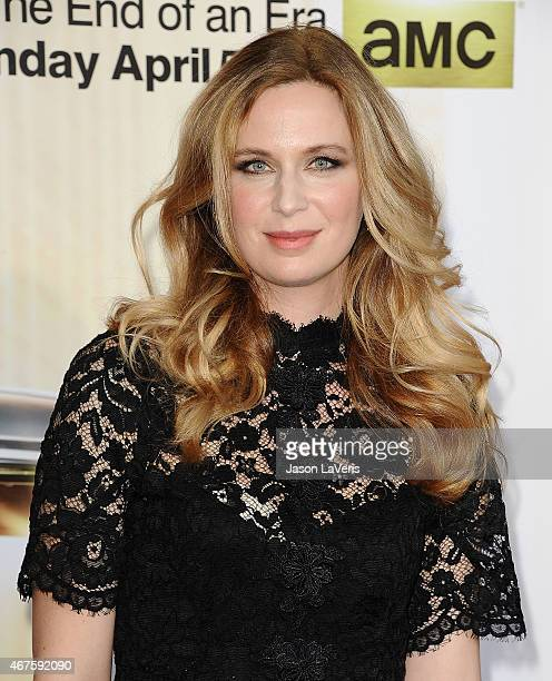 Actress Anne Dudek attends the Mad Men Black Red Ball at Dorothy Chandler Pavilion on March 25 2015 in Los Angeles California