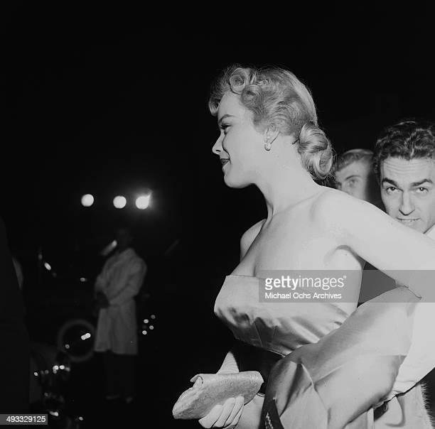 Actress Anne Francis attend the premier of ' The Robe' in Los Angeles California