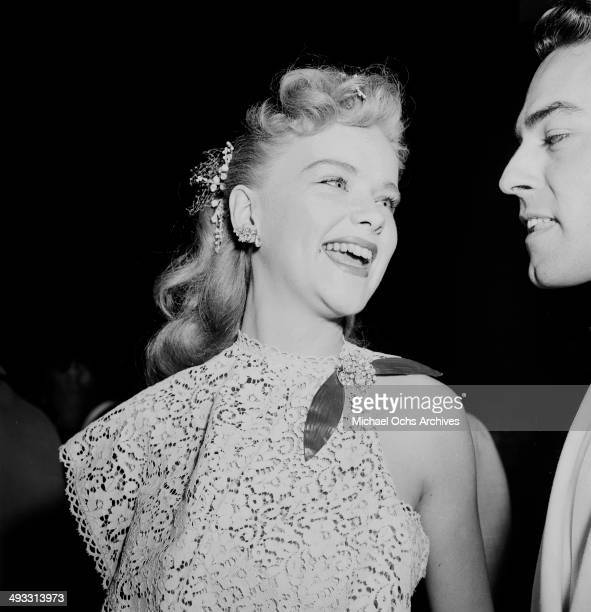 Actress Anne Francis attends a premier in Los Angeles California