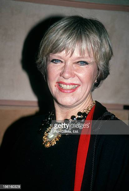 Actress Anne Francis attends the opening of 'Little Night Music' on April 18 1991 at the Doolittle Theater in Hollywood California