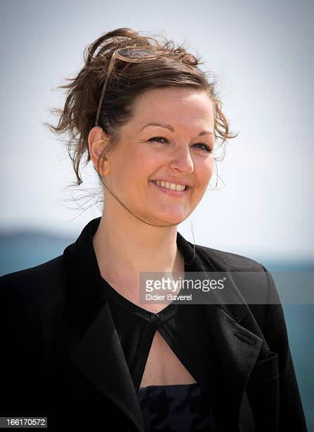 Actress Anne Girouard poses during a photocall for the TV Series 'No Limit' at MIP TV 2013 on April 9, 2013 in Cannes, France.