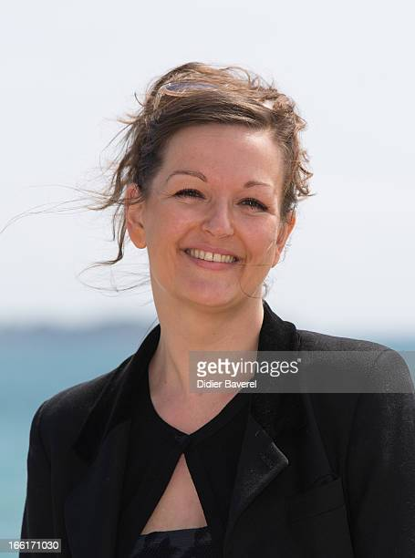 Actress Anne Girouard poses during a photocall for the TV Series 'No Limit' at MIP TV 2013 on April 9 2013 in Cannes France