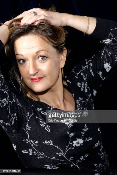 Actress Anne Girouard poses during a portrait session in Paris, France on .