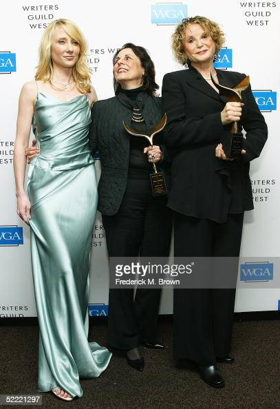 Actress Anne Hache and writers Joyce Brotman and Ellen Weston pose... News Photo - Getty Images