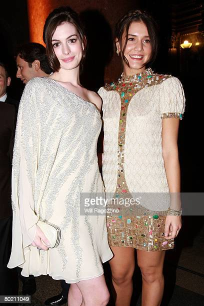 Actress Anne Hathaway and Fashion Designer Margherita Missoni attend The American Museum of Natural History's Annual Winter Dance on March 11, 2008...