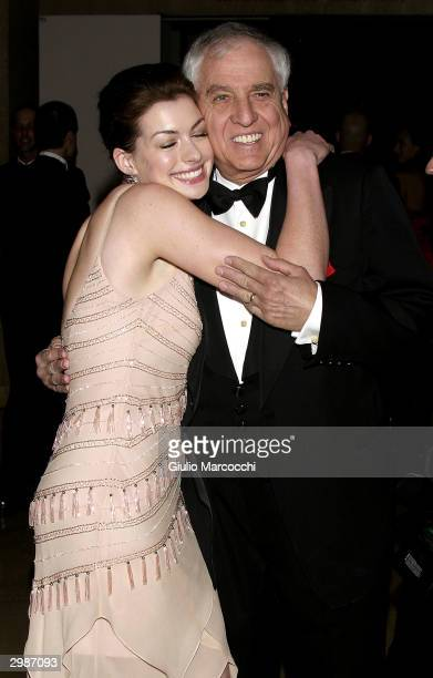 Actress Anne Hathaway and Garry Marshall arrive at the 54th Annual ACE Eddie Awards at the Beverly Hilton Hotel February 15 2004 in Beverly Hills...