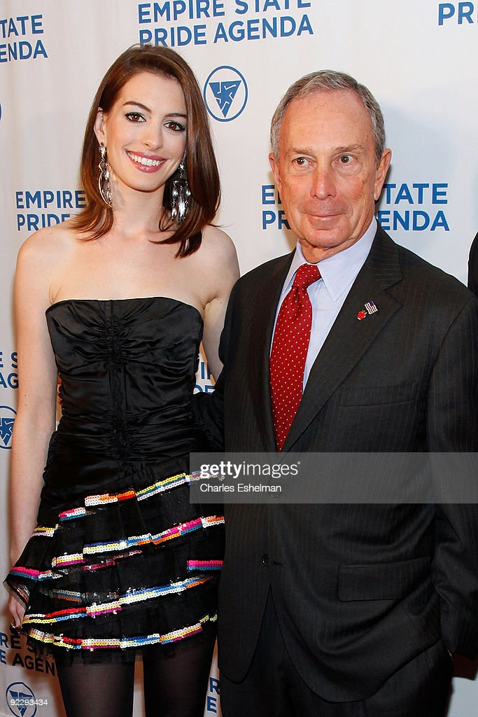 Actress Anne Hathaway and New York City Mayor Michael Bloomberg attend the 18th Annual Empire State Pride Agenda Fall Dinner at the Sheraton New York Hotel & Towers on October 22, 2009 in New York City.