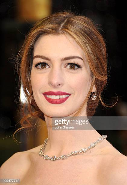 Actress Anne Hathaway arrives at the 83rd Annual Academy Awards held at the Kodak Theatre on February 27 2011 in Hollywood California