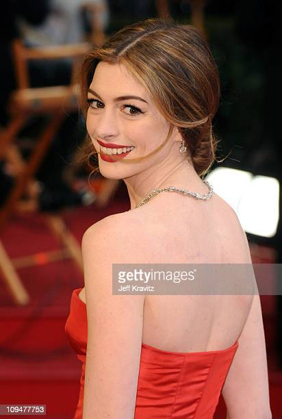 Actress Anne Hathaway arrives at the 83rd Annual Academy Awards held at the Kodak Theatre on February 27 2011 in Los Angeles California