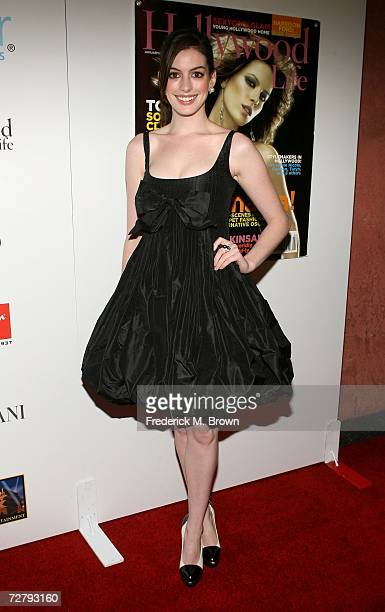 Actress Anne Hathaway arrives at the Hollywood Life magazine's 6th Annual Breakthrough Awards held at Henry Fonda Music Box Theatre on December 10,...