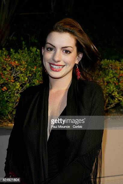 Actress Anne Hathaway arrives at the Miramax PreOscar 2004 Max Awards party at the StRegis Hotel