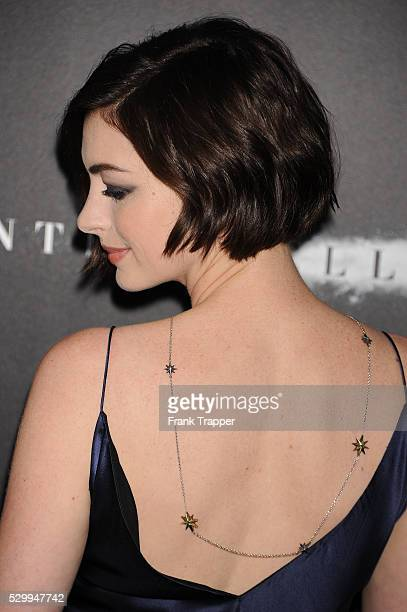 "Actress Anne Hathaway arrives at the premiere of ""Interstellar"" held at the TCL Chinese Theater in Hollywood."
