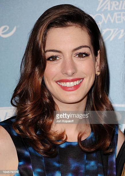 Actress Anne Hathaway arrives at Variety's 2nd Annual Power Of Women Luncheon at Beverly Hills Hotel on September 30 2010 in Beverly Hills California