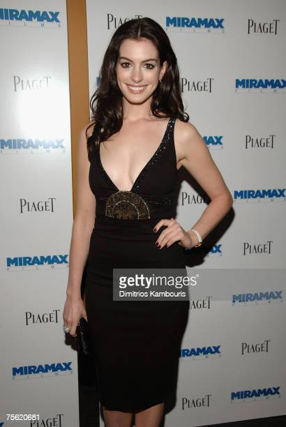Actress Anne Hathaway arrives during the premiere of 'Becoming Jane' at the Landmark Sunshine Cinema on July 24 2007 in New York City