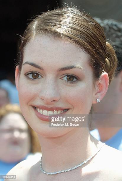 Actress Anne Hathaway arrives for the world premiere of The Princess Diaries July 29 2001 in Los Angeles CA The film opens nationwide August 3 2001