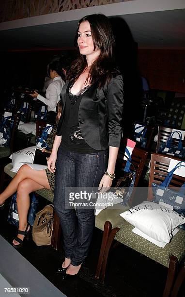 Actress Anne Hathaway at Angel Devil Spring 2008 during MercedesBenz Fashion Week at the Bryant Park Grill on September 6 2007 in New York City