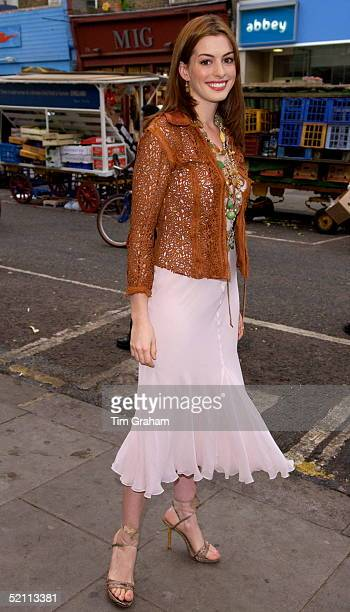 Actress Anne Hathaway At The Electric Cinema For The Premiere Of The New Walt Disney Film 'the Princess Diaries 2 Royal Engagement' The Premiere Is...