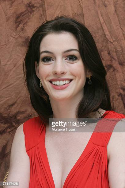 Actress Anne Hathaway at the Four Seasons Hotel in Beverly Hills California on July 11th 2007 Her latest movie is Becoming Jane There can be...
