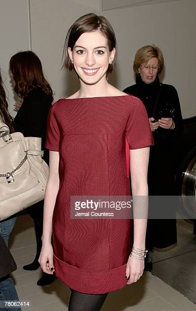 Actress Anne Hathaway at the PreParty for the Saks Fifth Avenue Holiday Window Unveiling at Channel Garden at Saks Fifth Avenue in November 19 2007...